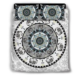 Circle and Elephant Bohemian Style Printing 4-Piece Polyester Bedding Sets/Duvet Cover