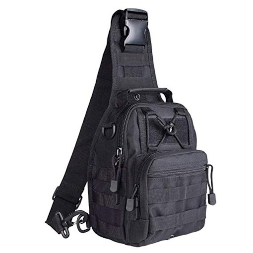 Fashion Nylon Tactical Zipper Men's Bag