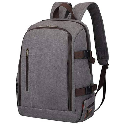 Plain Canvas Quake Proof Camera Bag