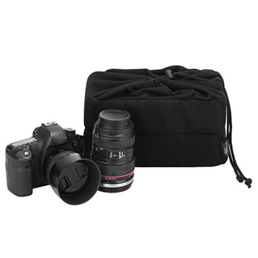 Plain Canvas SLR Camera String Bag