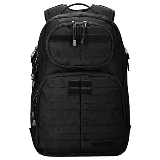 Huge Space Nylon Army Military Zipper Men's Backpack