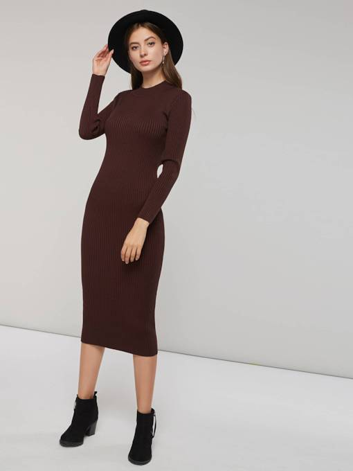 Long Sleeves Pullover Women's Long Sleeve Dress