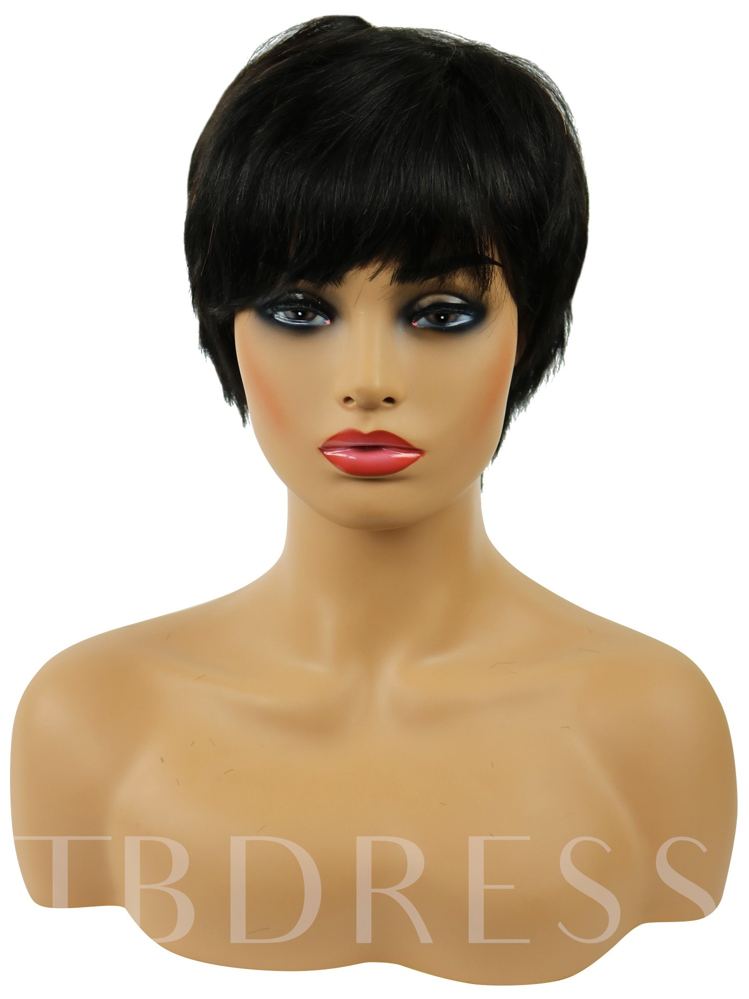 Straight Human Hair Short 120% Wigs