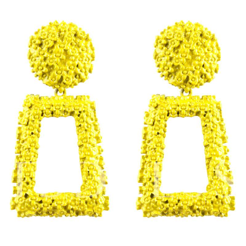 c2faab1b55a5c Hot Exaggerated Square Alloy Earrings - Tbdress.com