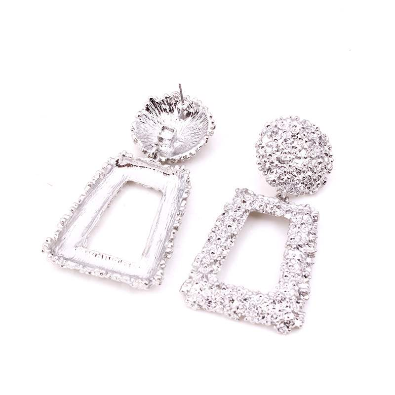 Hot Exaggerated Square Alloy Earrings