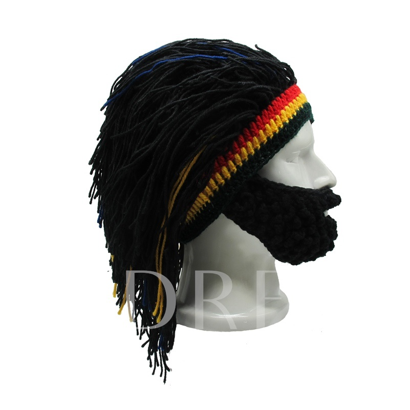Rasta Wigs Beard Mask Men's Hats