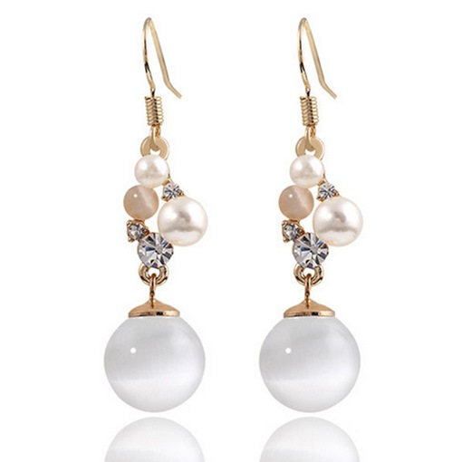Vintage Opal Pearl Earrings