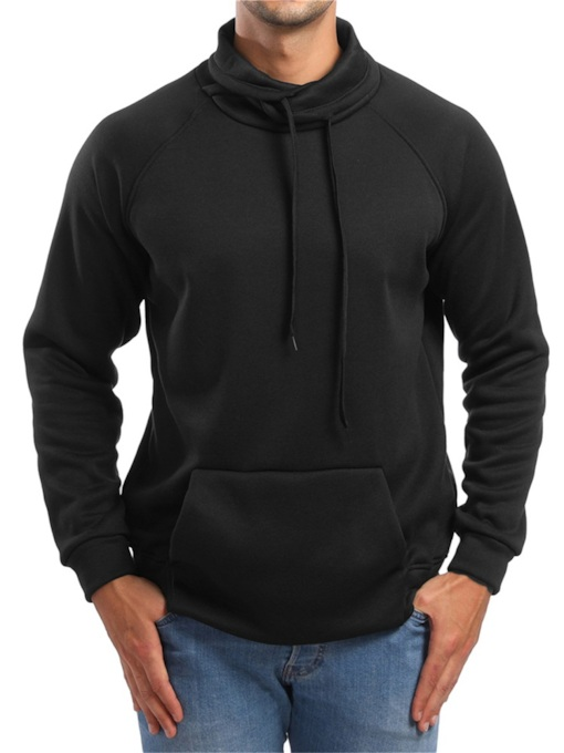 Slim Casual Pullover Plain Men's Hoodie