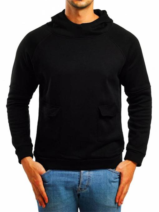 Casual Slim Pullover Plain Men's Hoodie