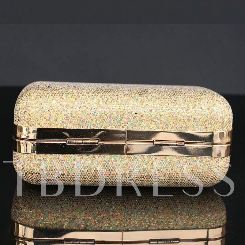 Fashion Rhinestone Sequins Hard Mini Clutch