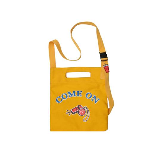 Casual Cartoon Letter Zipper Unisex Shoulder Bag