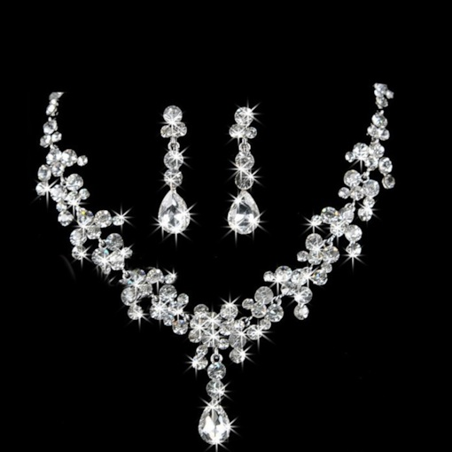 Sparkling Full Drill 2-Piece Wedding Jewelry Sets