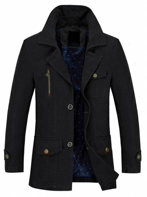 Loose Casual Thin Mid-Length Men's Jacket