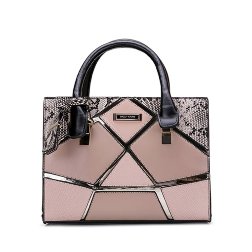 Casual Quilted Lining Zipper Women Tote Bag