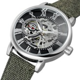 Hollow Out Roman Numerals Surface Mechanical Movement Men's Watch