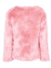 Faux Fur V-Neck Open Front Women's Teddy Coat