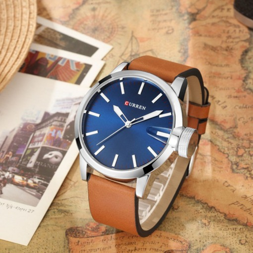 Analogue Display PU Leather Men's Casual Watch