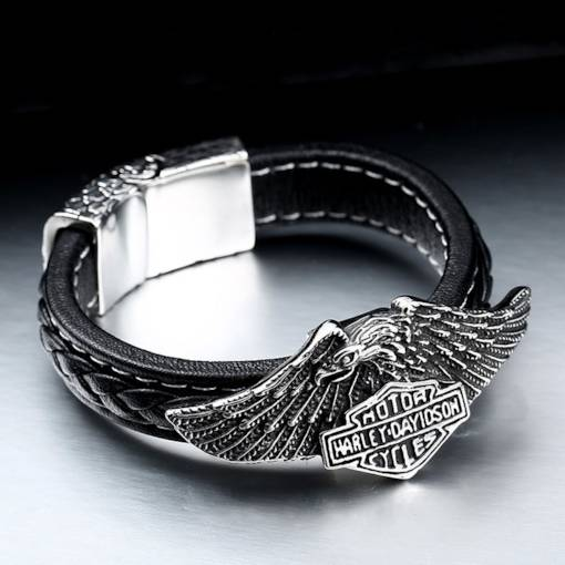Eagle Shape PU Leather Men's Bracelet