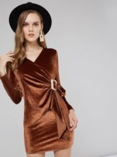 Lace-Up Long Sleeve Women's Bodycon Dress