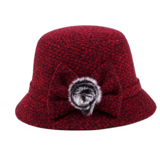 Cashmere Blends Pompon Fedora Hat