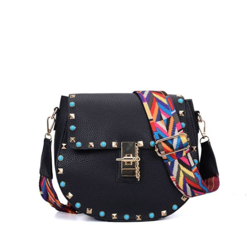 Fashion Rivent Lock Chain Women Crossbody Bag