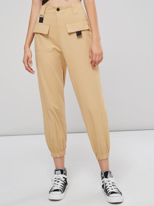 High Waist Pocket Women's Harem Pants