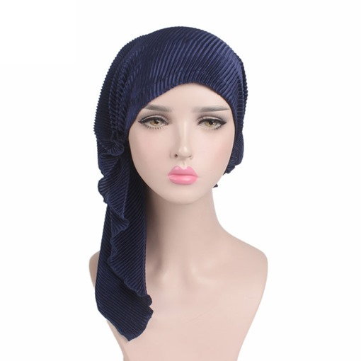 Pleated Warmth Velvet Turban Headcloth