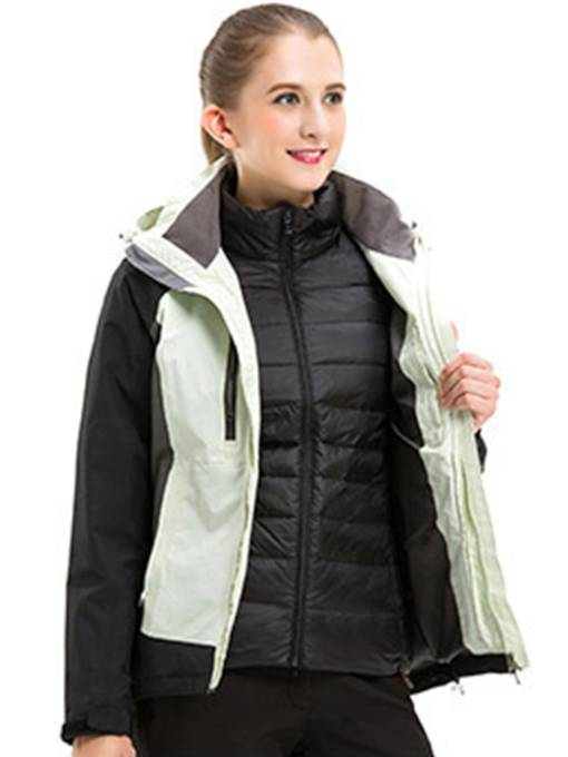 Down-Liner zweiteilige Frauen Outdoor-Windjacke