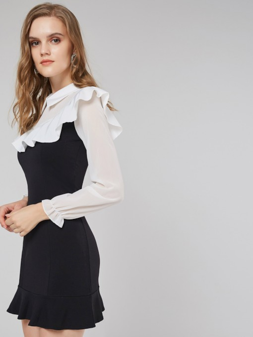 Peter Pan Collar Women's Long Sleeve Dress