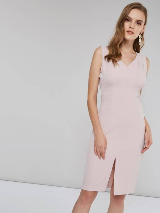 Sleeveless Slit Women's Day Dress