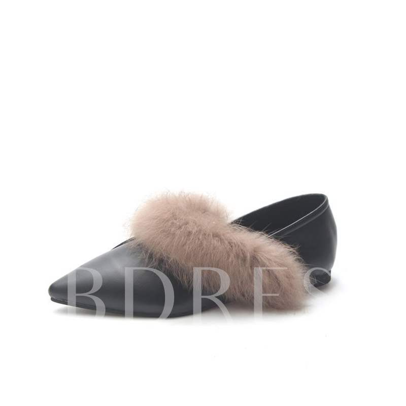 Buy Pointed Toe Block Heel Slip-On Casual Women's Flats, Spring,Fall, 13448719 for $28.51 in TBDress store