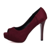 Suede Platform Peep Toe Stiletto Heel Women's Pumps