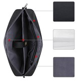 Plain Nylon Computer Interlayer Zipper Shoulder Bag
