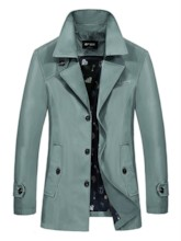 Patchwork Thin Lapel Plain Single-Breasted Men's Jacket