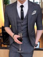 Summer Stripe Three Piece Men's Dress Suit