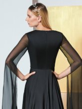 A-Line V-Neck Evening Dress with Long Sleeves