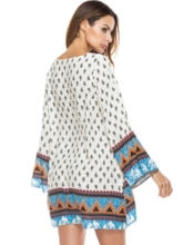 Loose Ethnic Pattern Women's Day Dress