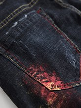 Stright Hole Casual Men's Jeans