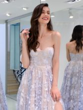 A-Line Sweetheart Lace Prom Dress