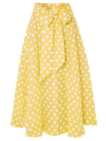 Polka Dots Bow Tie Long Women's Maxi Skirt