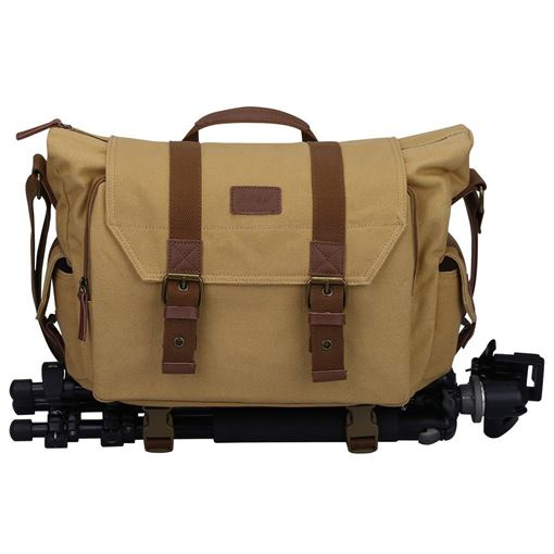 Canvas Belt Decorated Unisex Camera Bag