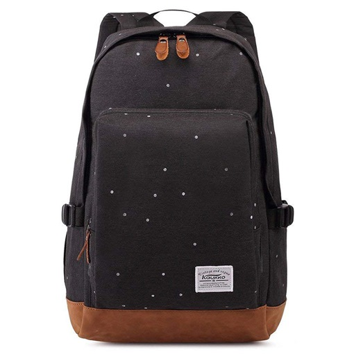 Fashion Canvas Polka Dots Soft Backpack