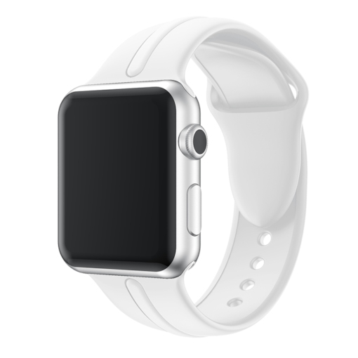montres intelligentes bracelet en silicone monochrome pour Apple Watch