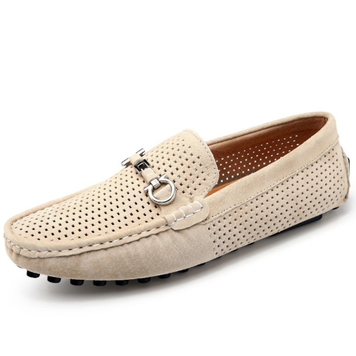 Hollow PU Slip-On Round Toe Fashion Men's Loafers