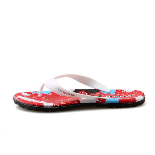 PVC Slip-On Color Block Casual Thong for Men