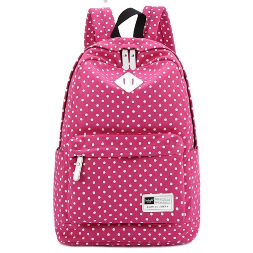Canvas Document Pocket Zipper Women Backpack