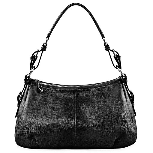Fresh Half Moon Zipper Soft Women Shoulder Bag