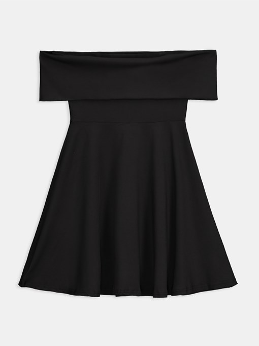 Black Off Shoulder Women's Day Dress