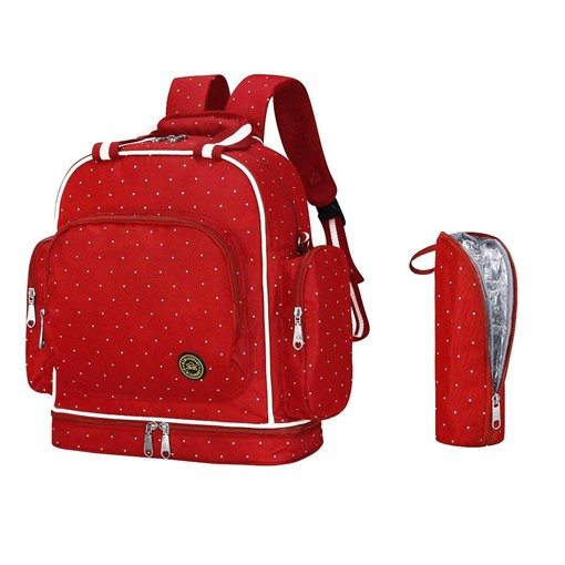 Canvas Polka Dots Wear Resisting Zipper Mother's Diaper Bag