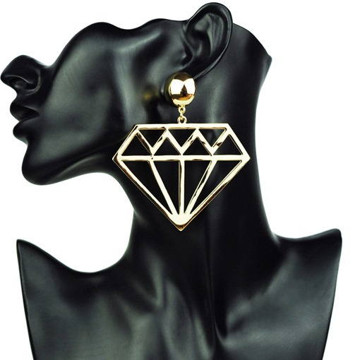 Diamond-Shaped Hollow Out Earrings